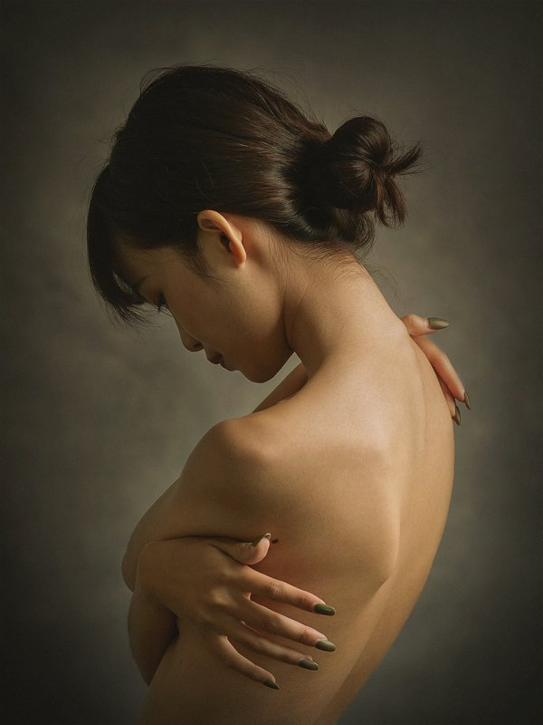 portrait, female, woman, girl, asian, vietnam, vietnamese, young, studio, mood, skin, flesh * * *photo preview
