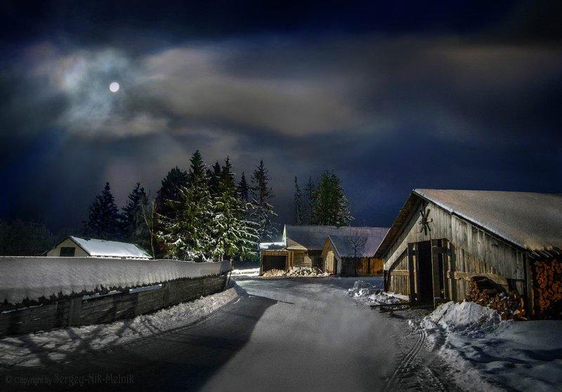 беларусь, звезды, зима, луна, мороз, ночь, снег, замок, гольшаны, вечера-на-хуторе, озерцо, логойск, дудутки Дела идут, контора пашет…photo preview