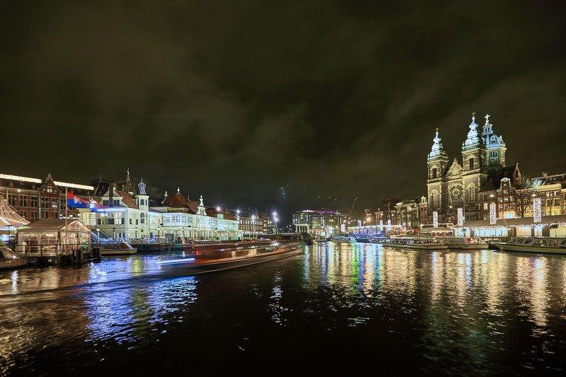 Ночной Амстердам….