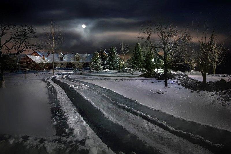 беларусь, звезды, зима, луна, мороз, ночь, снег, озерцо, логойск, дудутки, вечера-на-хуторе, фотограф-интерьеров-в-минске Трескучий мороз минус 25…photo preview