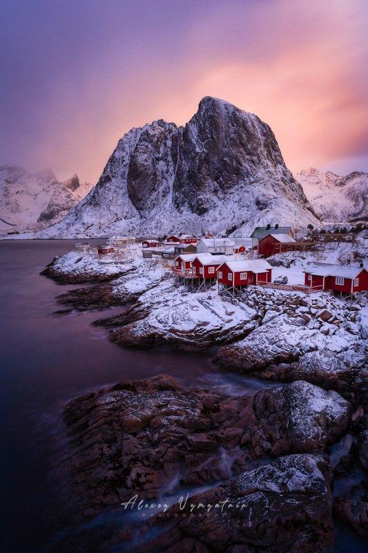 lofoten, norway, reine, sunrise, landscape, island, iconic Рассветное... фото превью