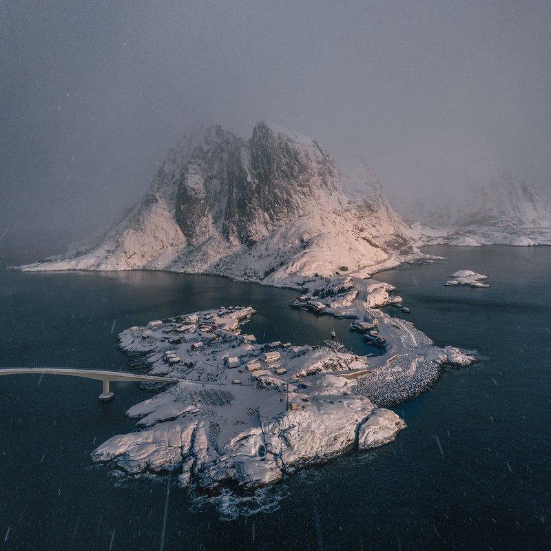 norway, lofoten, lofoten islands, рейне, reine Сквозь снежный ураган.photo preview