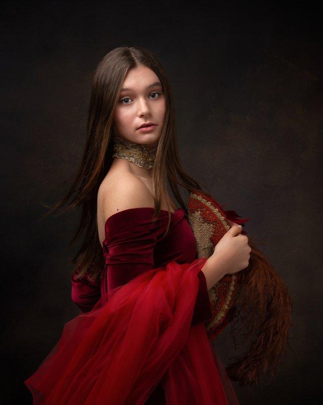 portrait , medieval style portrait, любимый человек, портрет Portrait of daughterphoto preview
