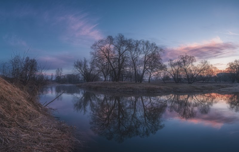 irix, природа, пейзаж, рассвет, киржач, река Весенний рассветphoto preview