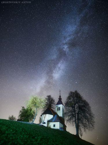 Ночь в Словении