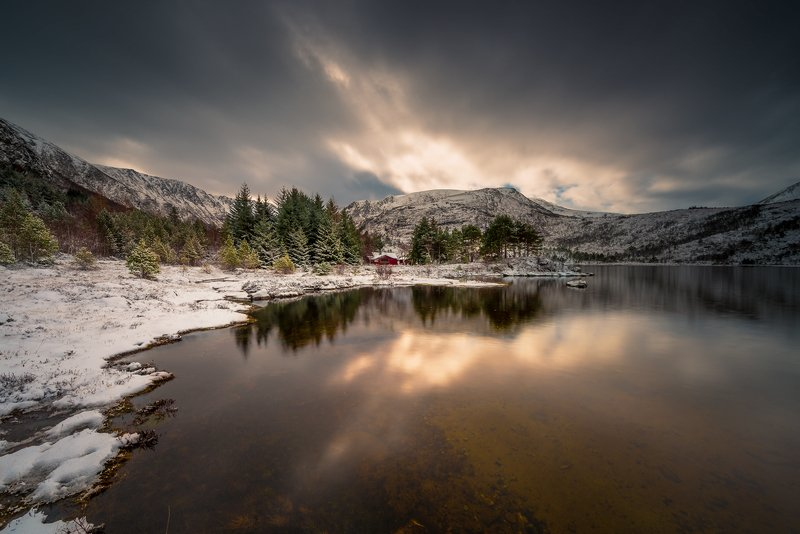 norway,landscape,light Hildrevatnetphoto preview
