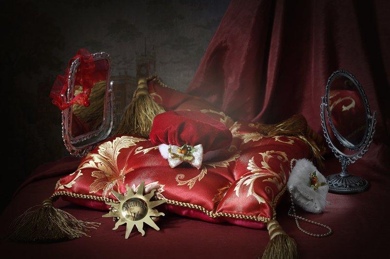 шутка, кот, собака, натюрморт, красный 10 этюдов в КРАСных тонах или история про КРАСную шапочку.photo preview
