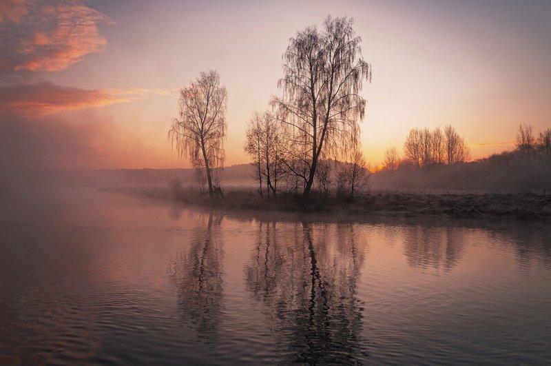 утро, свислочь, туман, весна, пейзаж Мартphoto preview