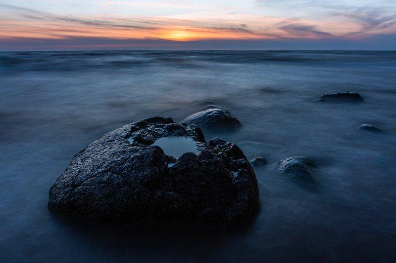 non people,virus,seascape,landscape,sunset,blue,stone,baltic sea,longexposure, Virusphoto preview