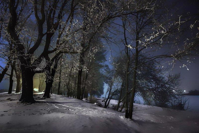 беларусь, звезды, зима, луна, мороз, ночь, снег, замок, гольшаны, вечера-на-хуторе, озерцо, логойск, дудутки Прощальный звон зимы...photo preview