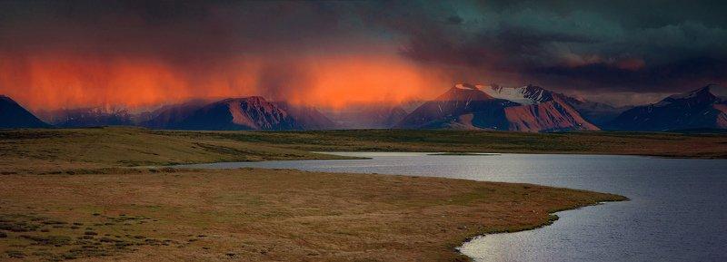 алтай,горы,укок пылающий дождьphoto preview
