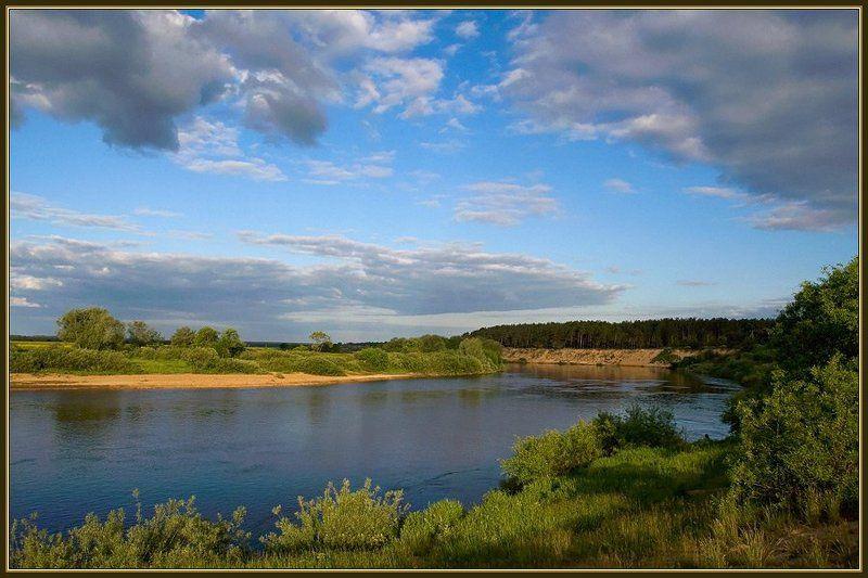 лето вечер река облака На Угреphoto preview