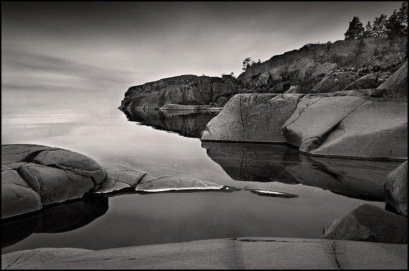 гладь, озеро, север, камни photo preview