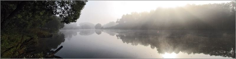 озеро, туман, рыбалка Тишинаphoto preview