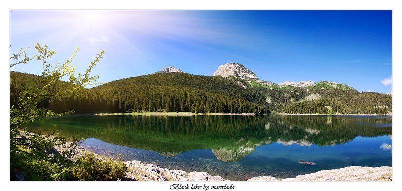 озеро панорама Черное озероphoto preview