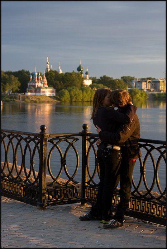 углич, закат, волга, золотое кольцо, любовь, романтика Угличская романтическая..photo preview