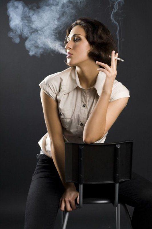 дым, минздрав, сигарета Дымчатая ледиphoto preview
