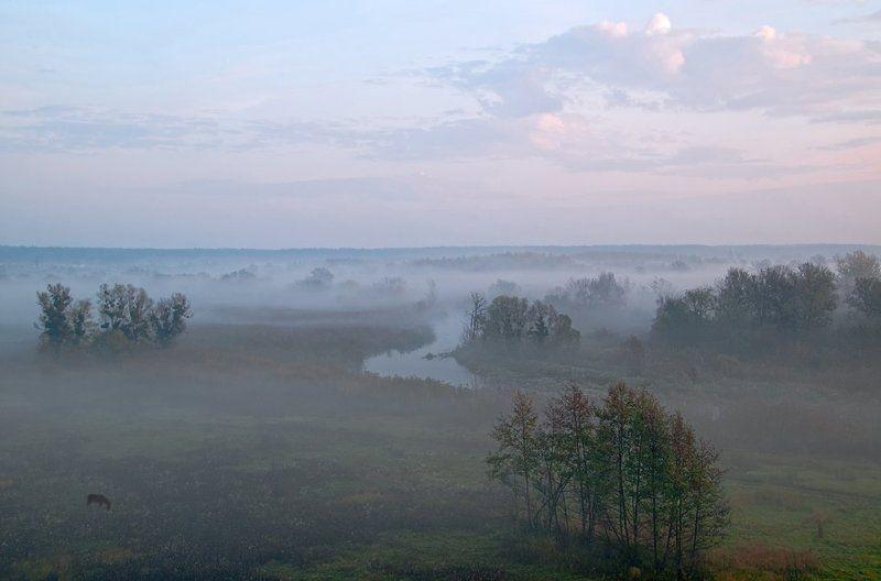 осень, рассвет, туман рассветные бродилкиphoto preview