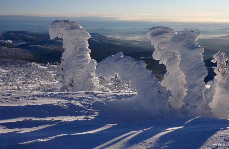 горы, шерегеш, горная шория, зима, сибирь, зима, солнце, снеговики Снеговикиphoto preview