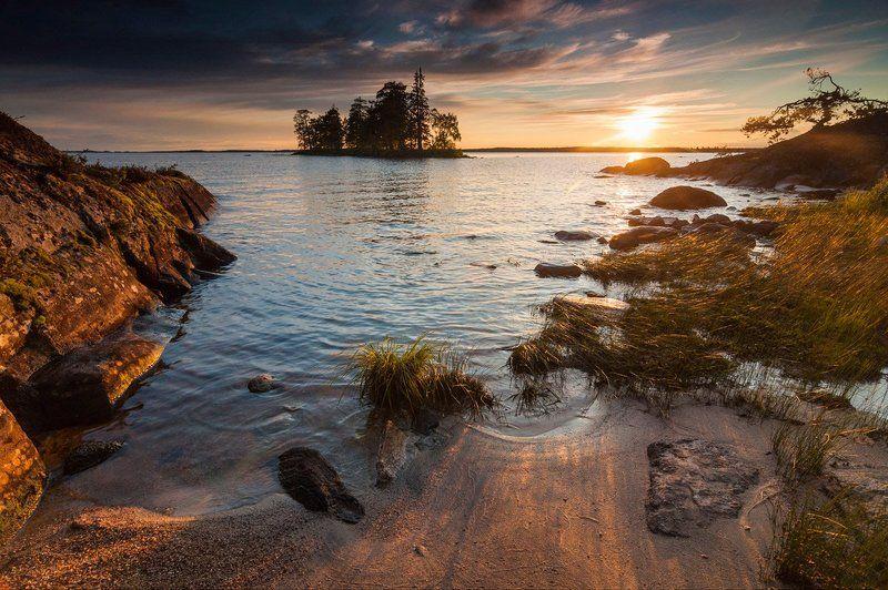 карелия, энгозеро, закат, остров, озеро, север, природа, пейзаж Пираты Карибского моря - карельская версияphoto preview
