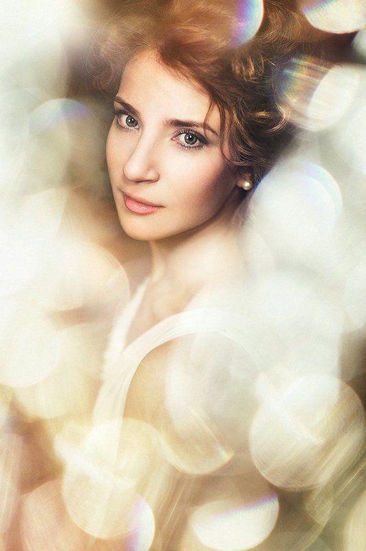 портрет, девушка, старое, блики, боке ***photo preview