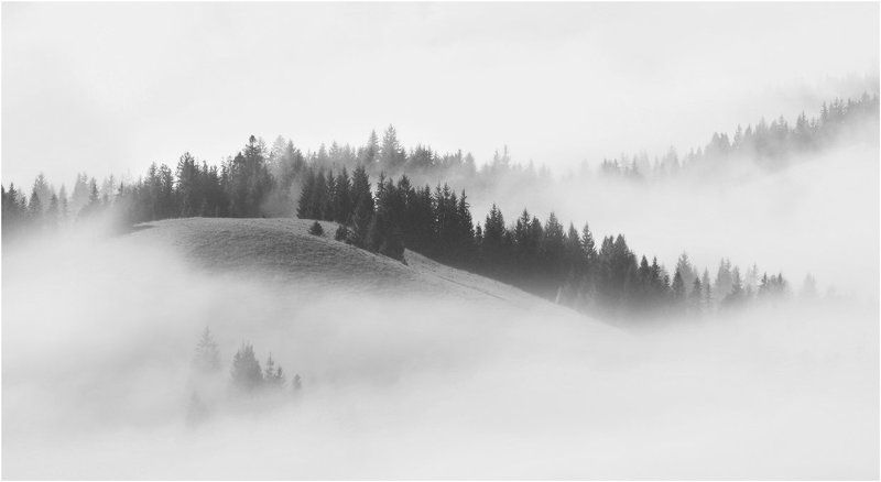 В облаках... (ч/б)photo preview