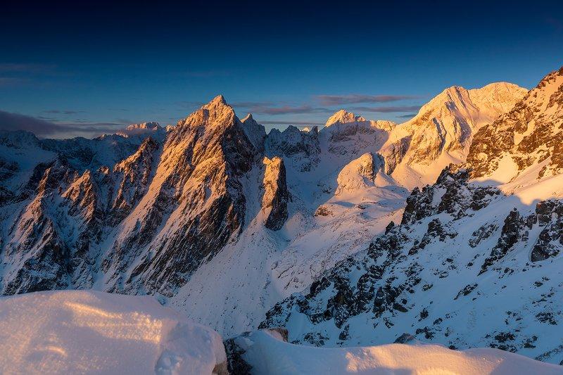 europe, mountains, slovakia, sunrise Tatra Mountainsphoto preview