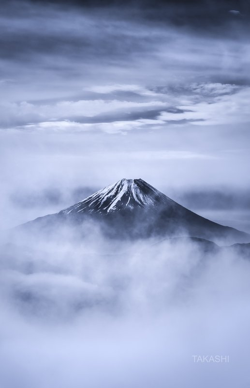 Fuji,Japan,mountain,fog,clouds, Fuji in cloudsphoto preview