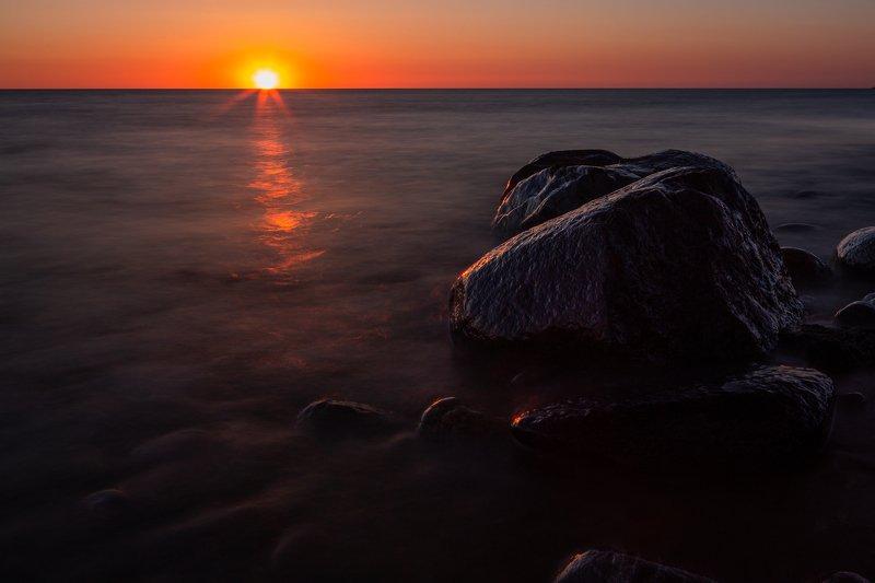 stone,sunset,sea,balticsea,latvia,longexposure,light,orange, Stoneguardsphoto preview