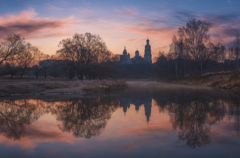 рассвет, киржач, монастырь, река Утро у монастыряphoto preview