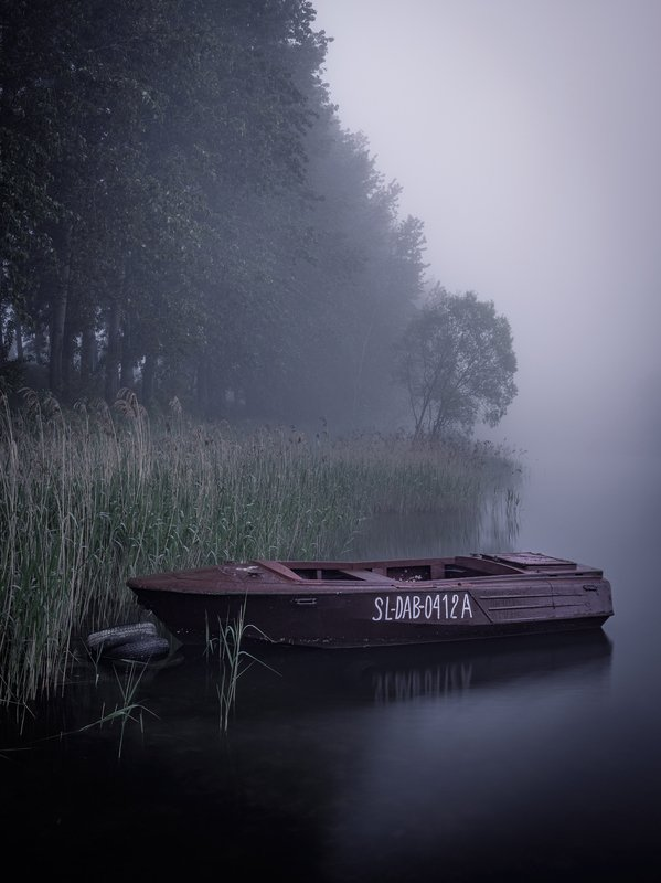 boat, nature, dark, gloomy, landscape, lake, water, nikon, pogoria, poland, пейзаж, лодка, темный, озеро Boat on the lakephoto preview
