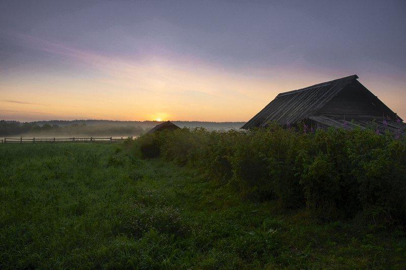 архангельская обасть, белая ночь, русский север, заброшенные деревни Белая ночьphoto preview
