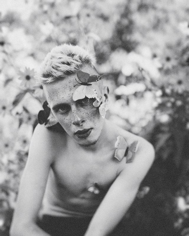 portrait,model,fineart,male,butterfly,pretty Butterfly boy...photo preview