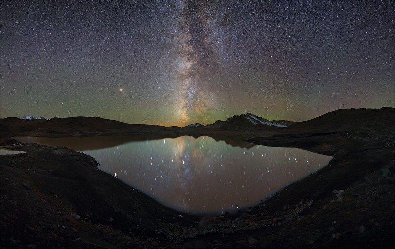 ночь большой тхач ночной пейзаж астрофотография звезды созвездия млечный путь ачешбоки Тонущая Галактикаphoto preview