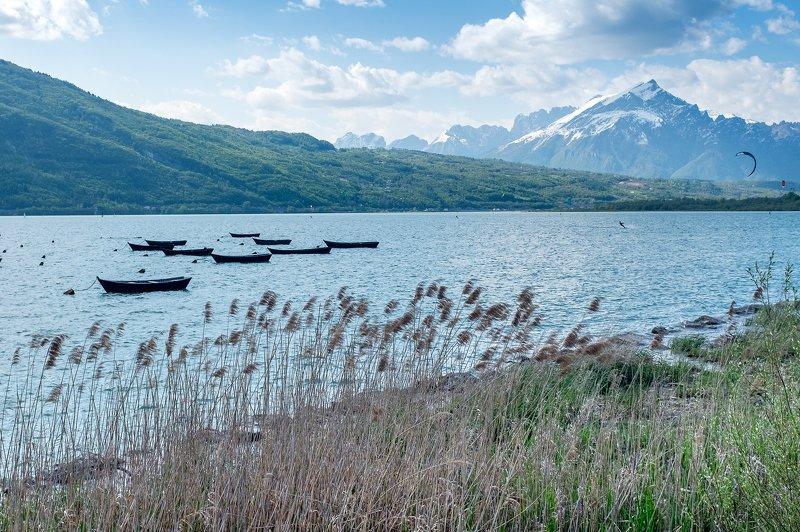 italy, landscape, dolomiti, lake Lake Sanata Crocephoto preview