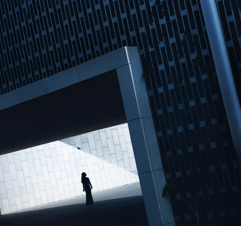 силуэт,девушка,улица,геометрия Futurism Muse photo preview