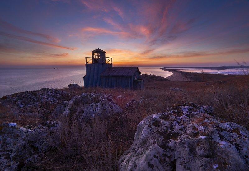 крым, crimea, опук, черное море, заповедник, маяк Одиночество созерцанияphoto preview