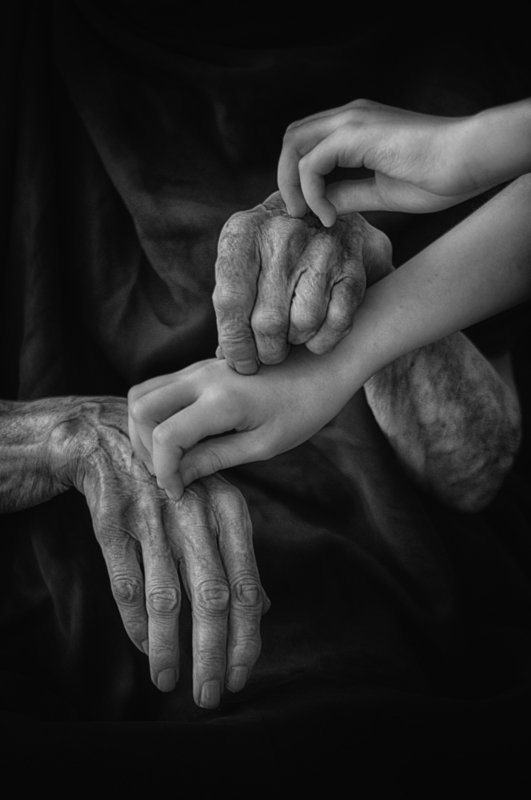 hands, time, black and white, conceptual, руки, время, чёрно-белое, концептуально From the strings of lifephoto preview