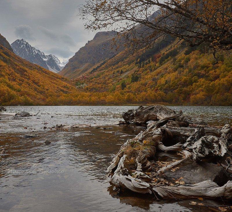 кавказ горы осень озеро Чудище озёрноеphoto preview