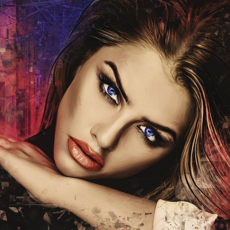 арт-портрет по фото из инстаграмаphoto preview