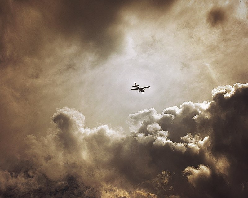 sky, clouds, aeroplane,beauty,gold Fly awayphoto preview