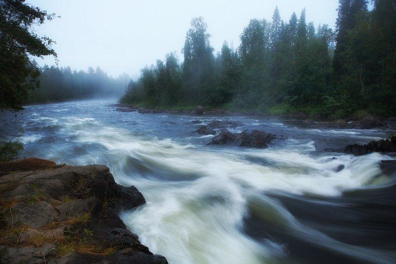 кольский, закат, вода, белые ночи Умба, Падун на Низьмеphoto preview