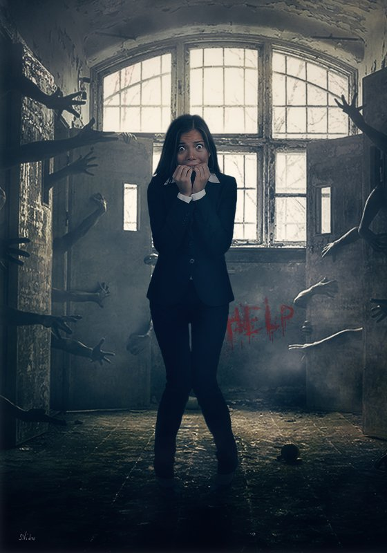 девушка, тюрьма, камеры, руки Потёмки сознанияphoto preview