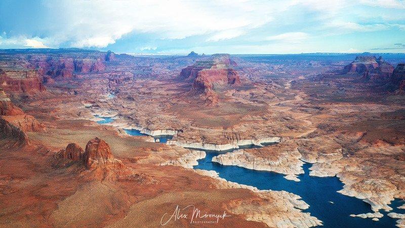 каньон, сша, мост, арка, природа, путешествие, фото-тур, юта, скала, река, ручей, небо, озеро, аэросъемка, дрон, аризона, Озеро Пауэлл, СШАphoto preview