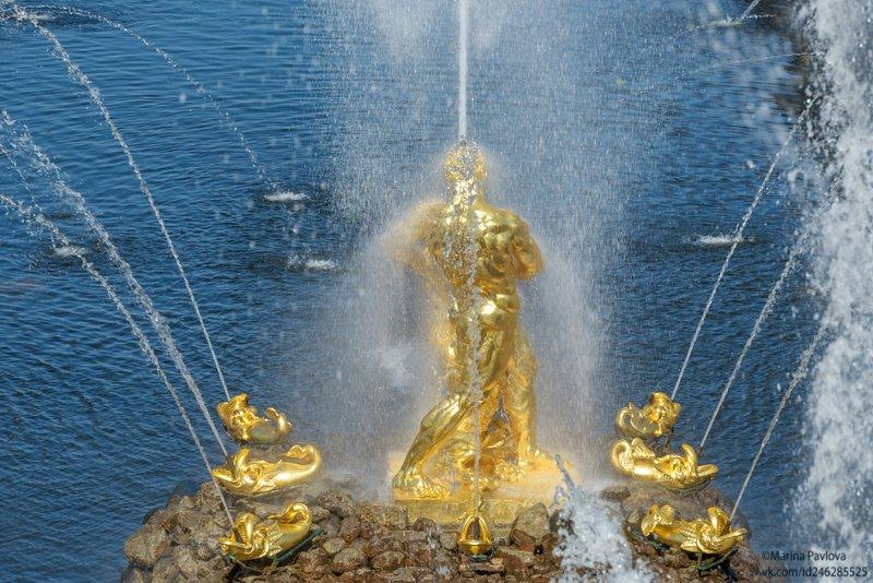 петергоф, фонтаны, фонтан\
