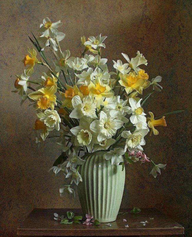 весна, натюрморт, букет цветов, нарциссы, марина филатова ***photo preview