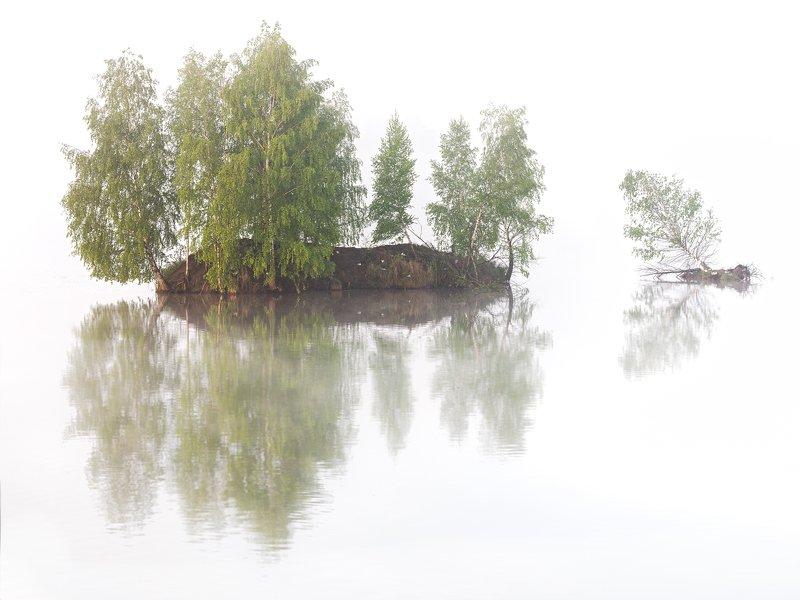 island, foggy, got, morning, landscape, nature Magic Islandphoto preview