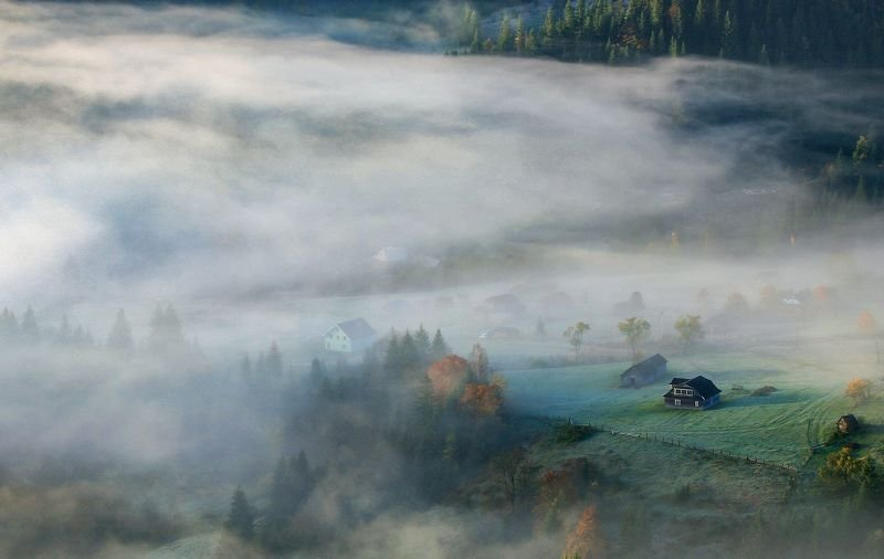 Утро деревенькиphoto preview