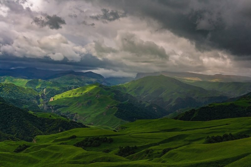 горы, эльбрус,кавказ,туман in a thunderstorm...photo preview