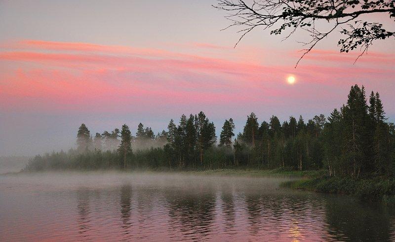 кольский, закат, вода, белые ночи Умба, закатphoto preview